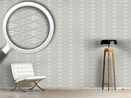 Design Wallpaper Rhombus Grey