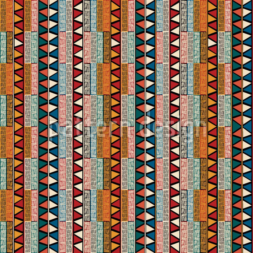 Designtapete Tribal Color