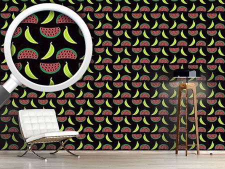 Design Wallpaper Bella Banana Meets Manni Melon