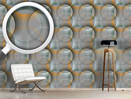 Papel tapiz de diseño Transparency Of The Sunray Circles