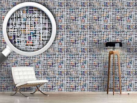 Design Wallpaper Pastel Pop Art Patchwork