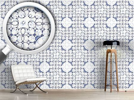 Design Wallpaper Circles So Blue