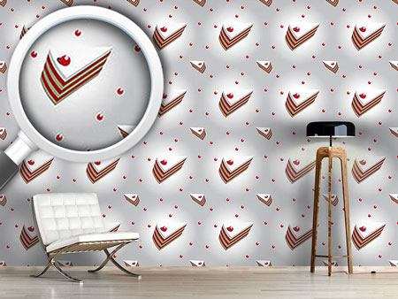 Design Wallpaper Cherry Cream Cake