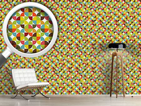 Design Wallpaper Quartered Circles