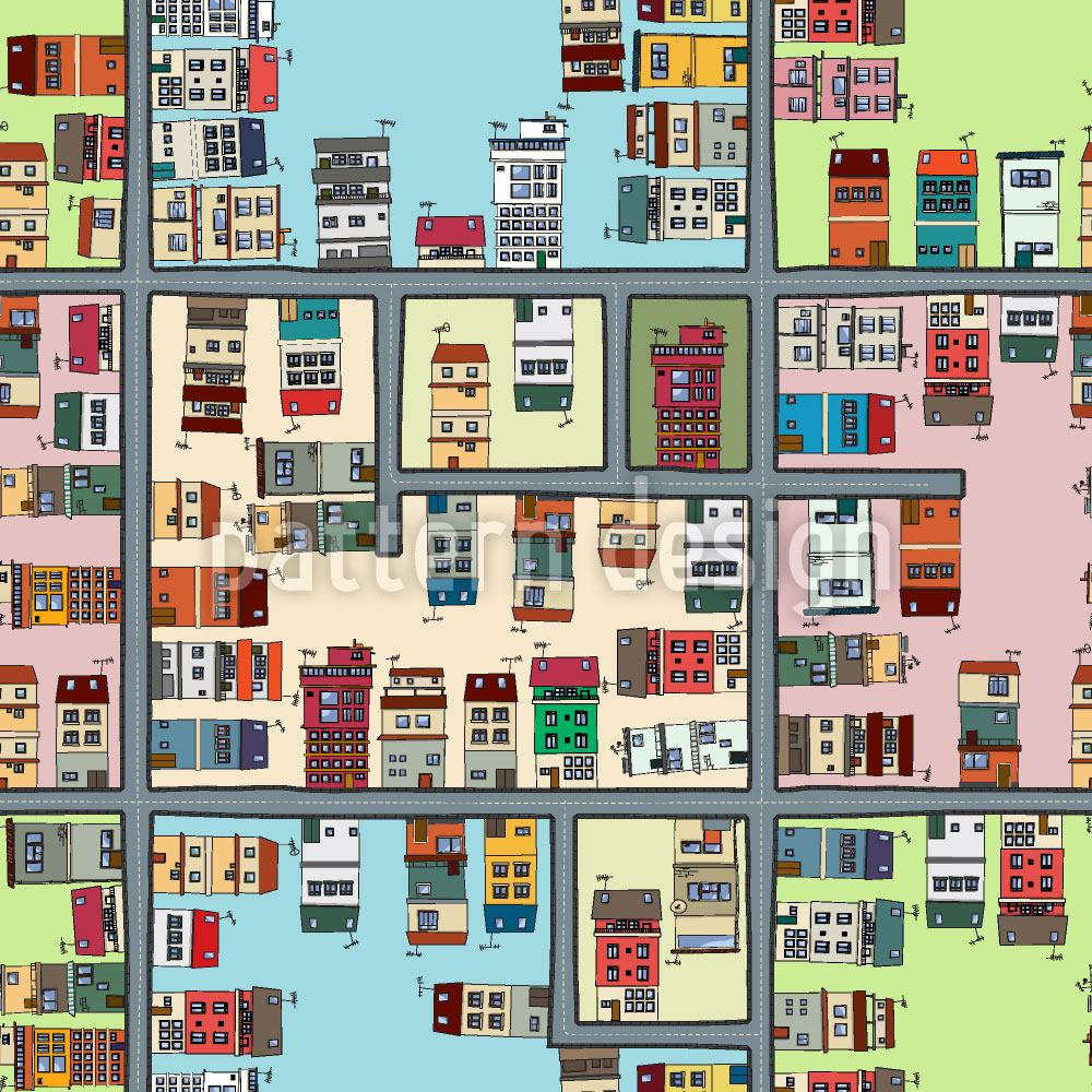 Design Wallpaper Map Of City