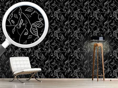Design Wallpaper At Night In Leafy Forest