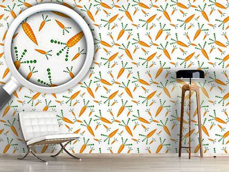 Papier peint design Tasty Carrots