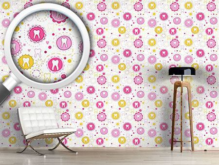 Design Wallpaper Sweet Primary Teeth