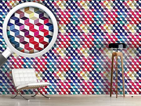 Design Wallpaper Dimension Of Stacked Squares