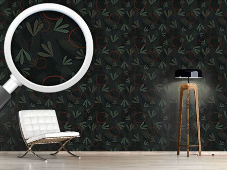 Design Wallpaper Circles And Leaves