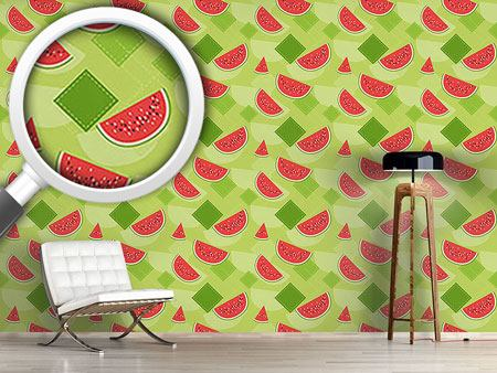 Papier peint design Fresh watermelons