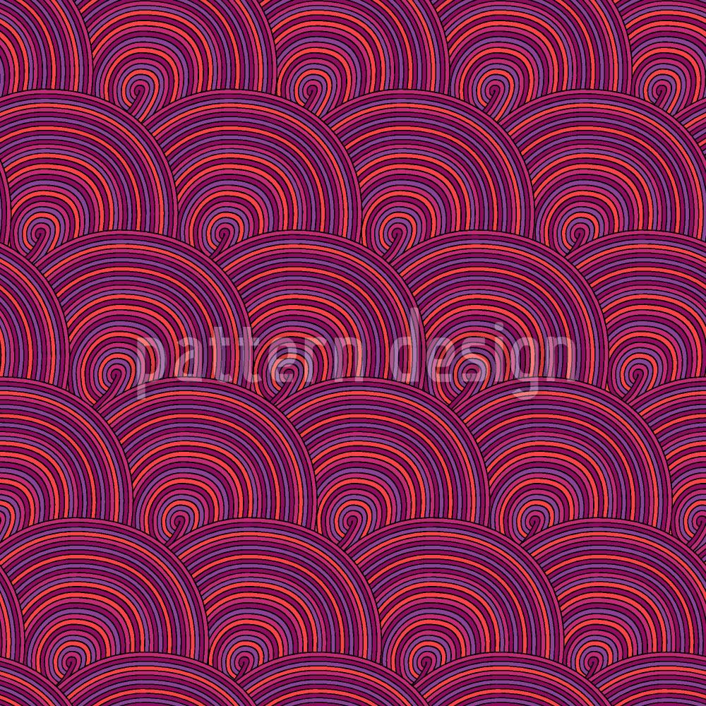 Papier peint design Sweet Fruit Jelly Waves