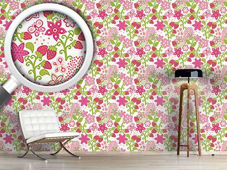 Design Wallpaper Strawberry Paradise