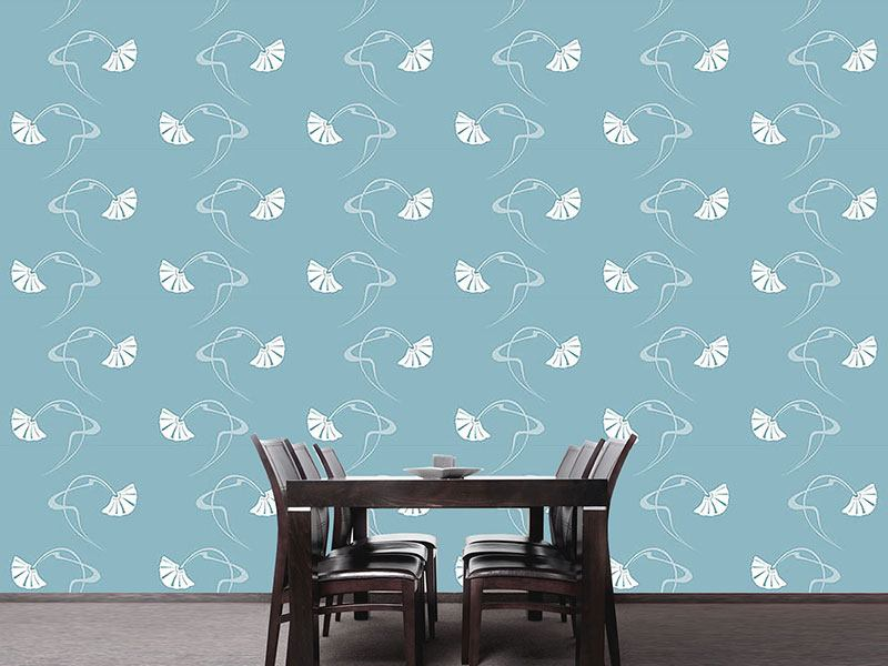 Papel tapiz de diseño Burlesque Sterling Blue