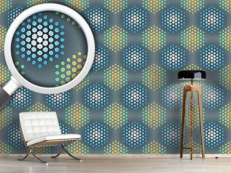 Design Wallpaper Ice Holy Hexagons