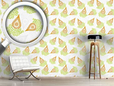 Design Wallpaper Swirly Carrots