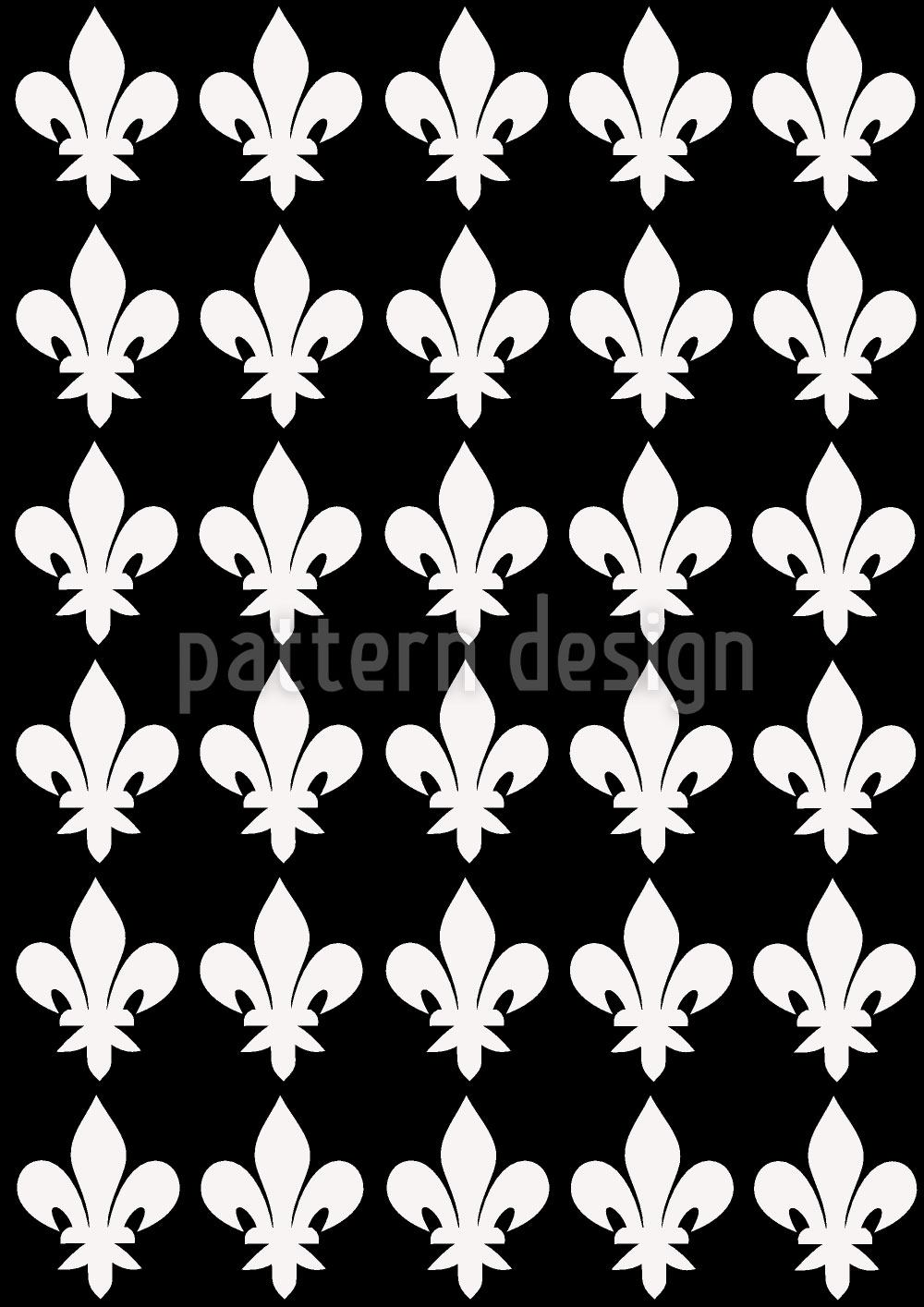 Papier peint design Fleur De Lys At Night