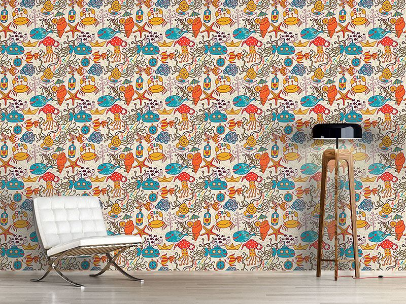 Design Wallpaper Party In The Yellow Submarine