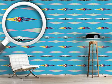 Design Wallpaper Rhombus Aliens