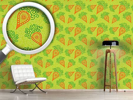 Design Wallpaper Filigree Baby Carrots