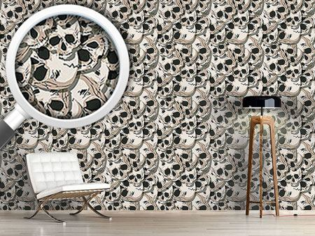 Design Wallpaper The Skulls Of Kutna Hora