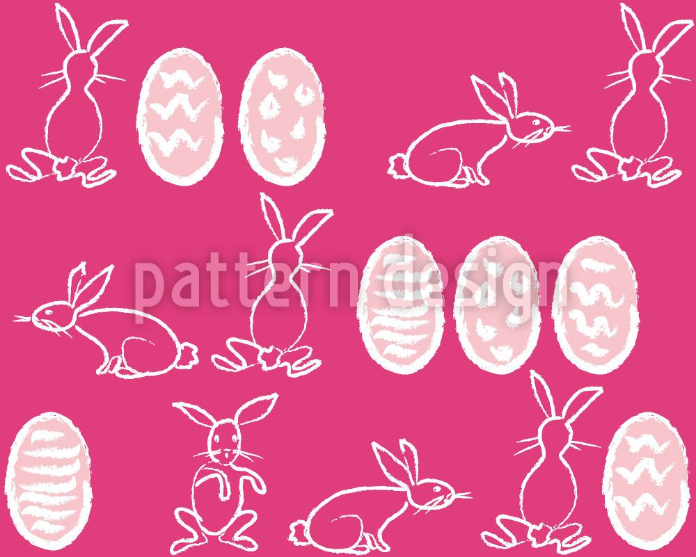 Papel tapiz de diseño Easter Bunnies In Panic
