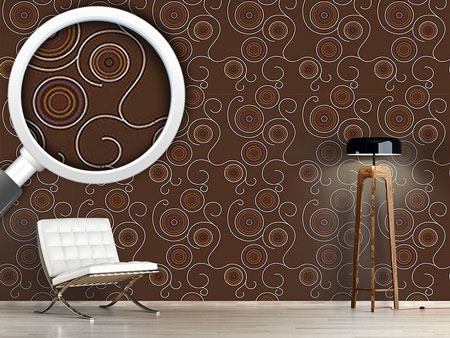 Design Wallpaper Aborigine Twirls