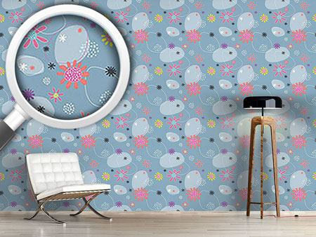 Design Wallpaper Blumen Mathilda