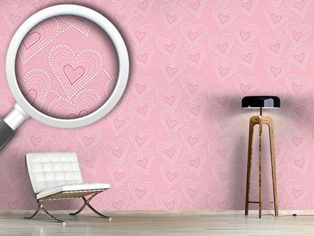 Design Wallpaper Sewing Hearts
