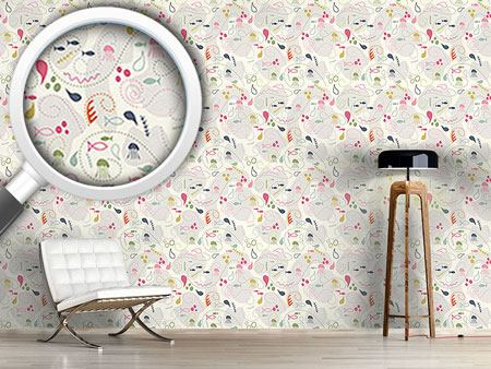 Design Wallpaper Pinky Planktons Patchwork