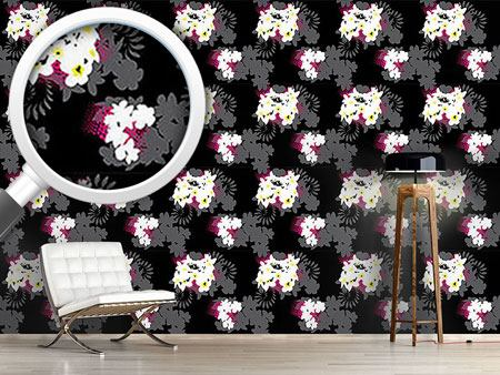 Design Wallpaper Beach Flowers