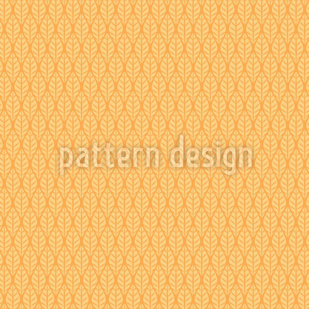 Papier peint design Checkered Sun Leaves