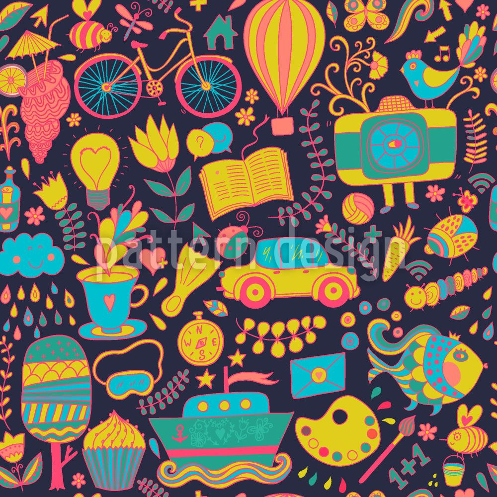 Design Wallpaper Funny Leisure Time At Night