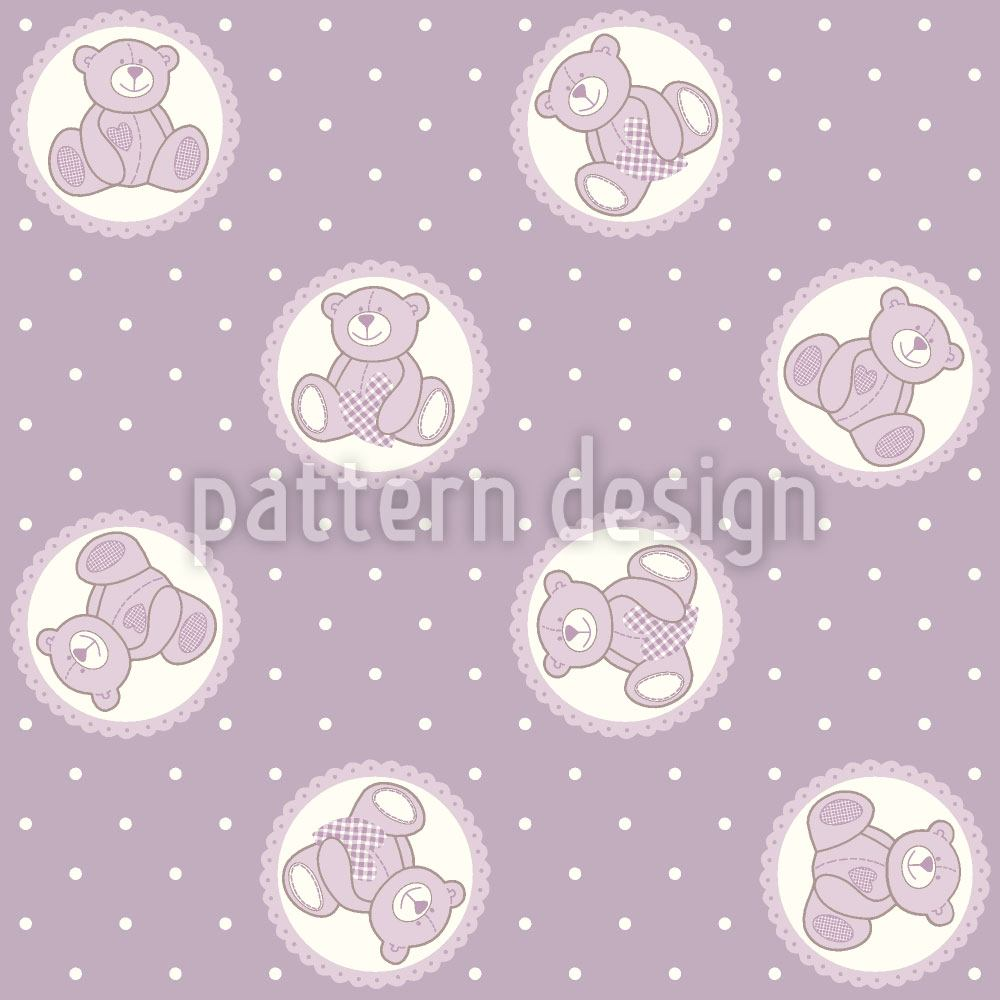 Papier peint design Baby Lauras Teddy Bear