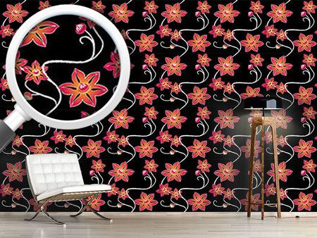 Design Wallpaper Black Clematis