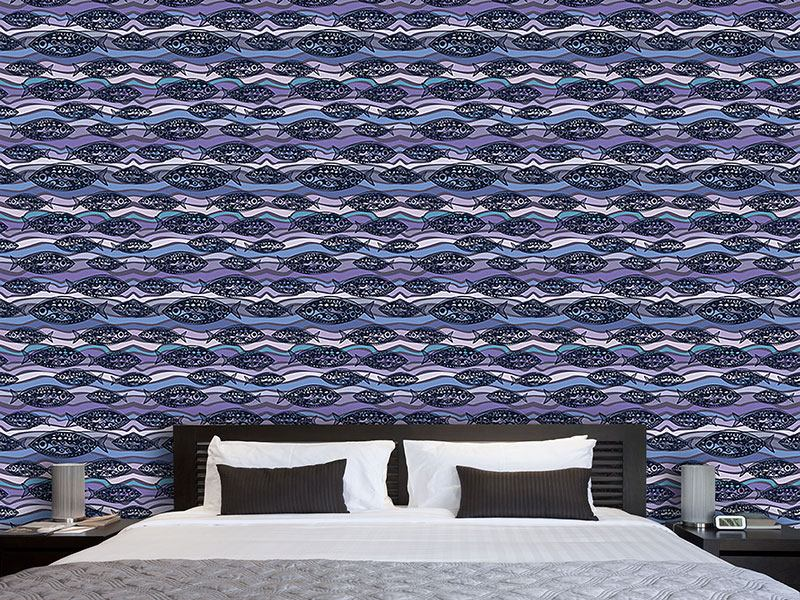 Design Wallpaper Fish On Pacific Waves