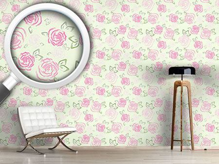 Design Wallpaper Little Roses