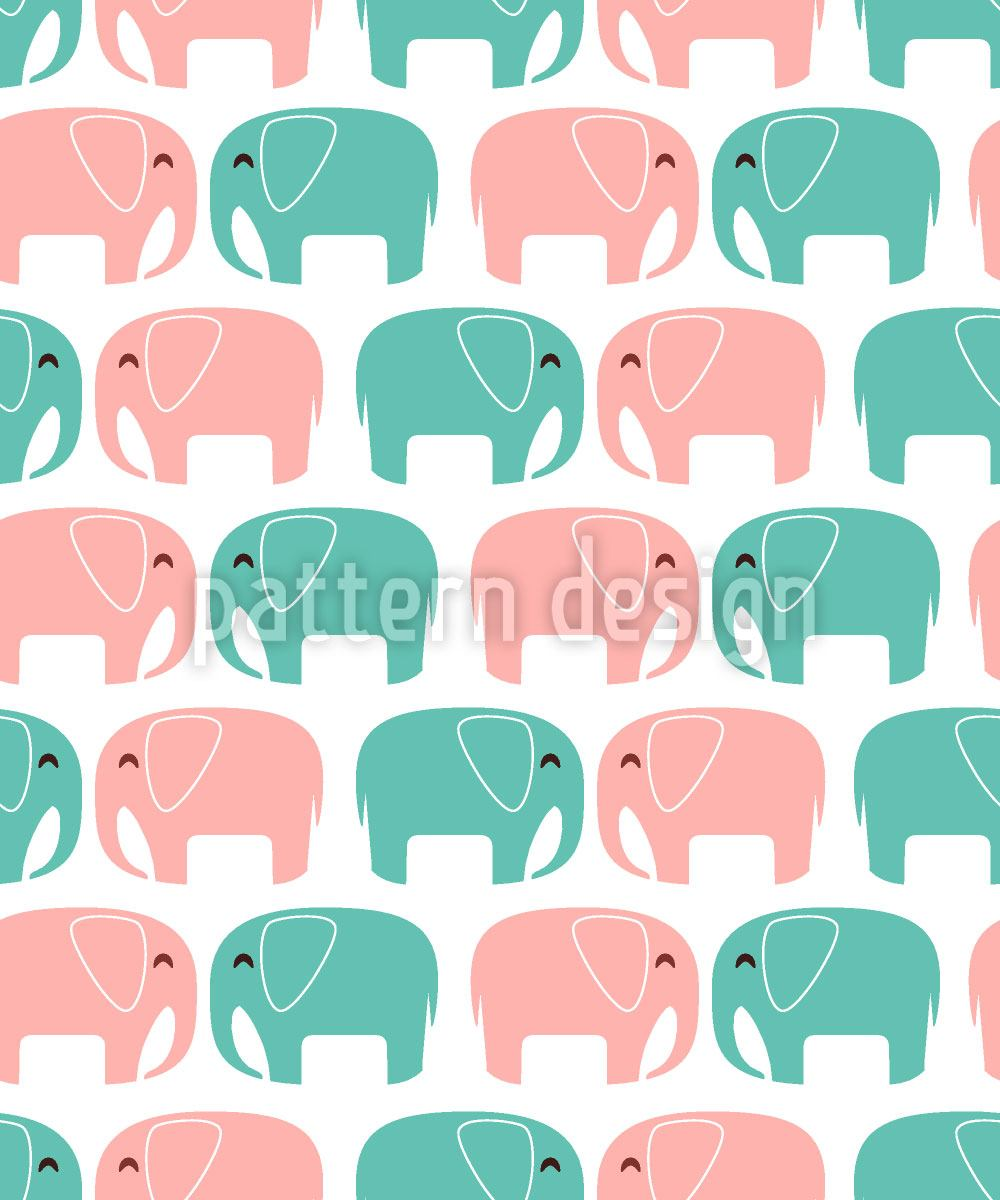 Carta da parati Elephants In Love