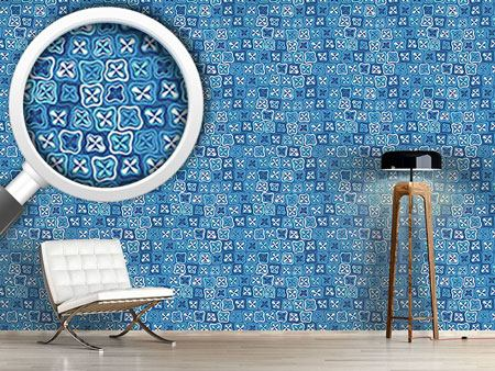Design Wallpaper Floral Crossover Mosaic