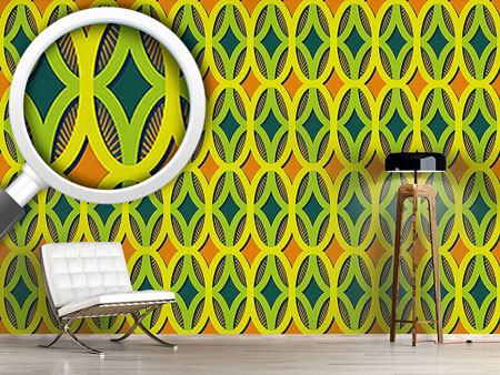 Design Wallpaper Rays In Ovals
