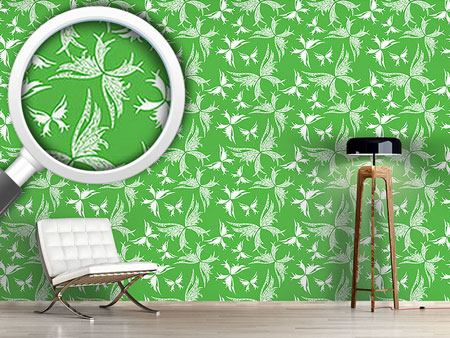 Design Wallpaper Polynesian Butterflies In Spring