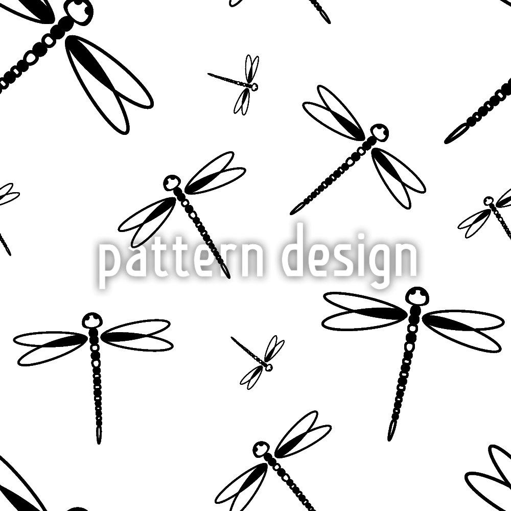 Design Wallpaper Dragonfly Swarm