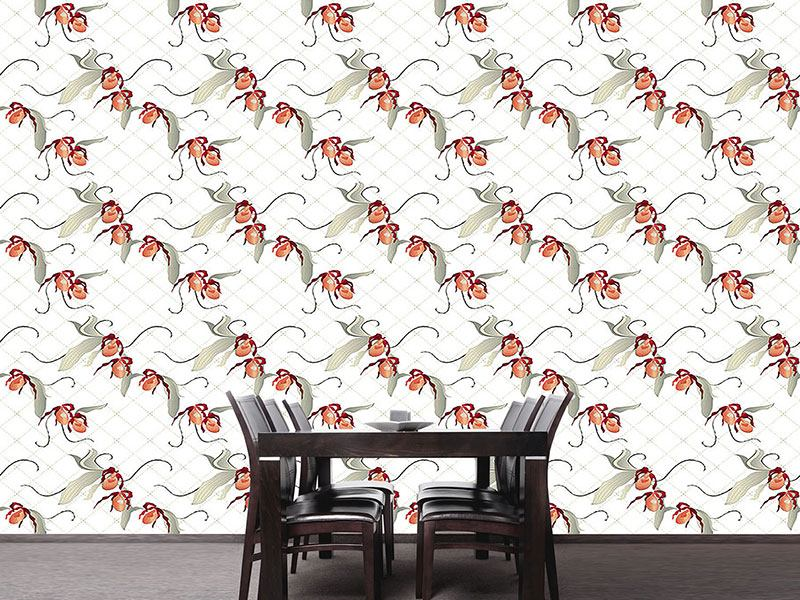 Design Wallpaper Ladiesslippers In White