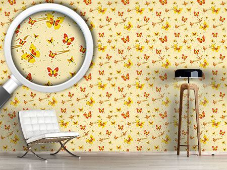 Design Wallpaper Action Painting Butterfly