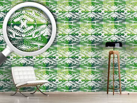 Design Wallpaper Cactus Art On Check