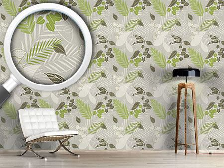 Design Wallpaper Grey Forest Soil