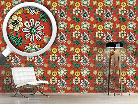 Design Wallpaper Flower People Of The Seventies