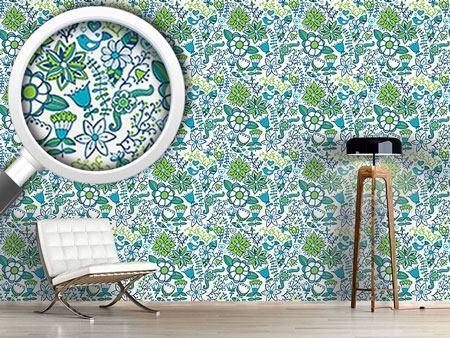 Design Wallpaper Cool Paradise Flowers