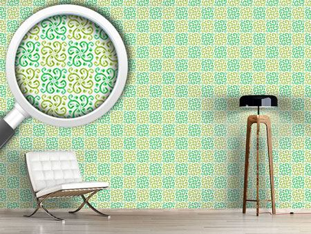 Design Wallpaper Floral Swirl