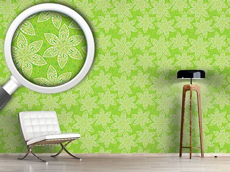 Design Wallpaper Flower Cartoon